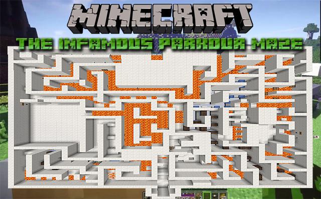 Карта паркур в лабиринте для Майнкрафт 1.13