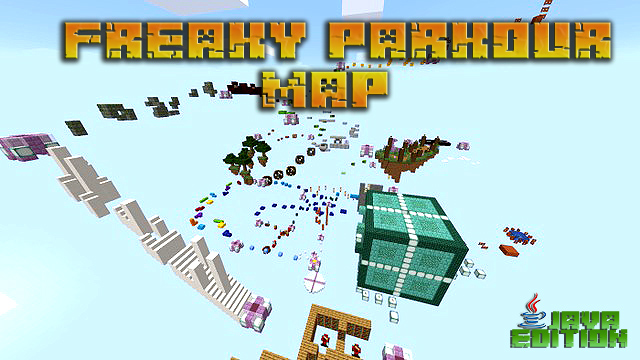 Скачать паркур карту Freaky на прохождение для Minecraft 1.12.2
