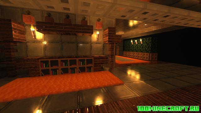 Карта современный особняк для Майнкрафт   Modern mansion