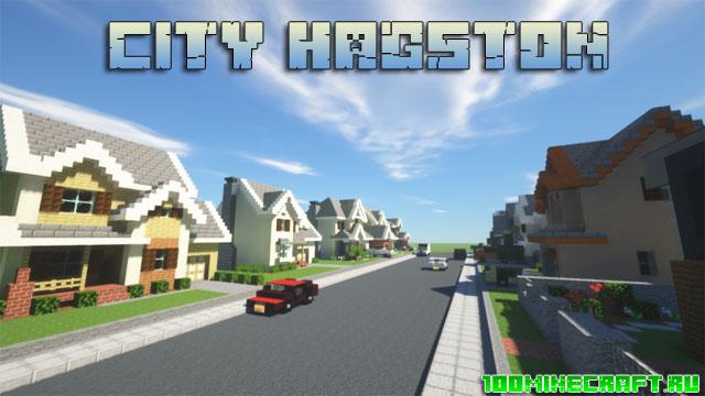 Карта City Hangston для Minecraft 1.16.5
