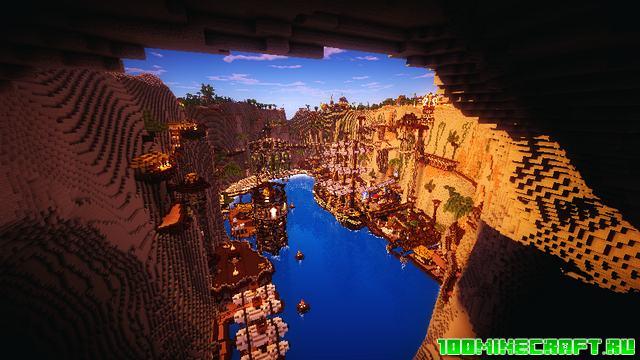 Карта для Майнкрафт 1.16.5 | Средневековый город