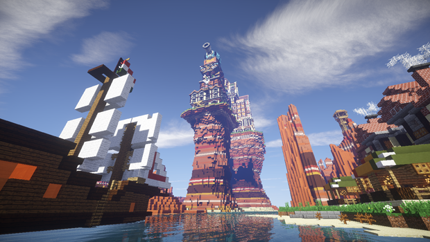 Карта Steampunk Castle для Minecraft 1.7.10