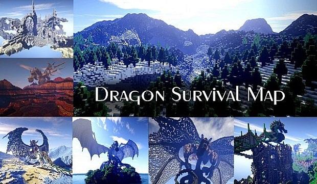 Карта для Майнкрафт / Dragon Survival - Скачать бесплатно