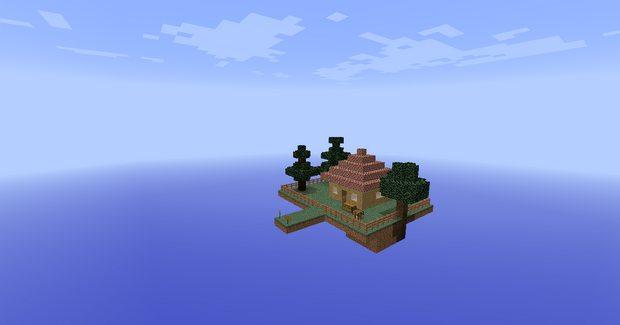 Карта SkyBlock: Перезагрузка для Майнкрафт 1.12.2, 1.11.2 | Летающий остров