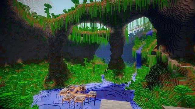 Карта для Minecraft с ловушками и головоломками