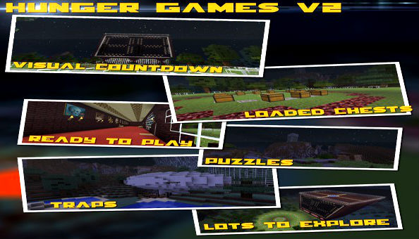 Скачать картe для Minecraft / Голодные игры версия 2