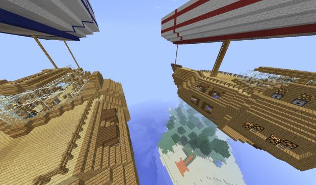 Скачать бесплатно карту для Minecraft / Битва на кораблях