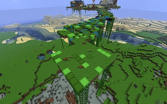 Карта летающий остров для Майнкрафт