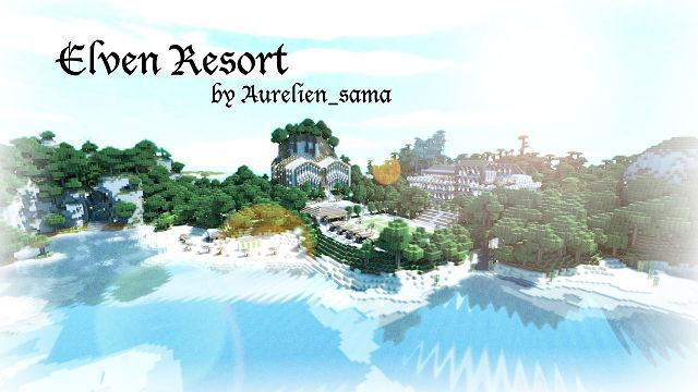Скачать карту для Minecraft 1.7.2, 1.6.4, 1.5.2 - Остров Elven Resort