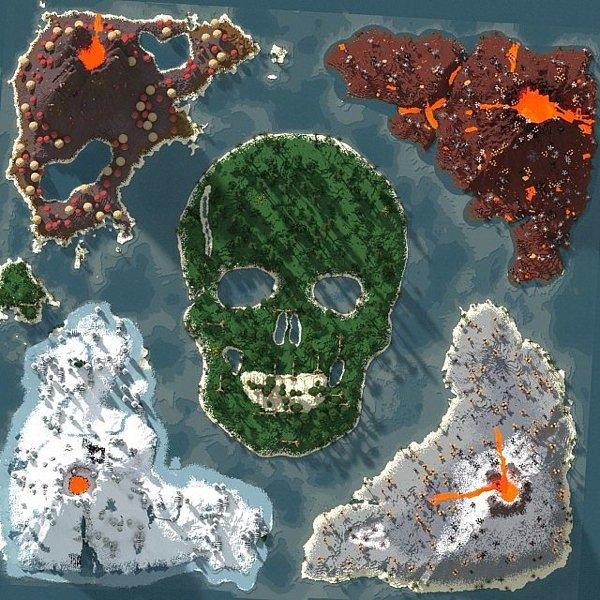 Скачать карту на выживание для Minecraft 1.7.2, 1.6.2, 1.5.2 / Grimlock Hollow