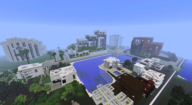 Скачать бесплатно карту для Minecraft 1.6.2, 1.5.2 / Modern City