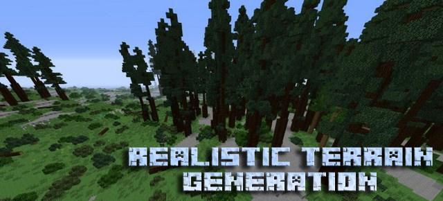 Мод Realistic Terrain Generation для Minecraft 1.10.2/1.7.10