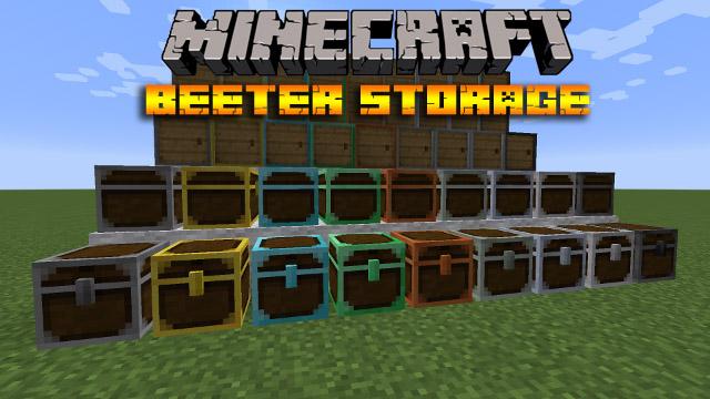 Мод для Minecraft 1.11.2 | 1.10.2 - Better Storage