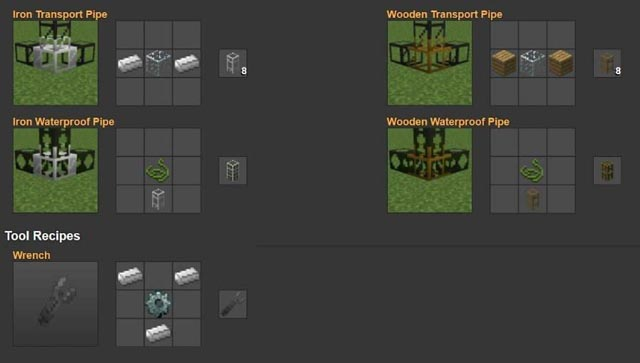 Рецепты механизмов для Build Craft