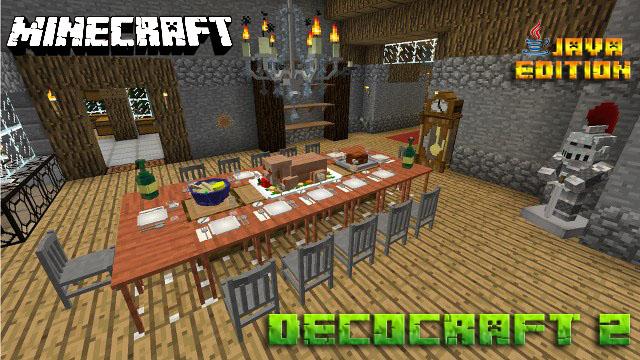 Скачать мод Decocraft 2 для Майнкрафт 1.12.2