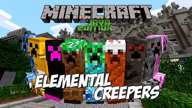 Мод Elemental Creepers на Майнкрафт 1.12.2