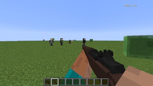 Мод Modern Warfare на оружие для Майнкрафт 1.12.2