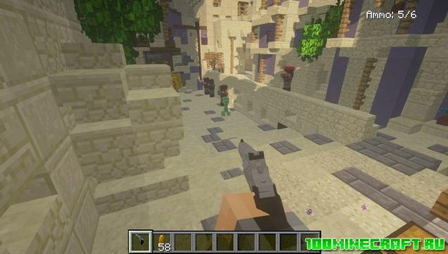 Мод на оружие «Vic's Modern Warfare» для Майнкрафт 1.12.2