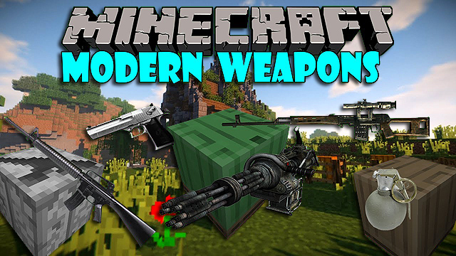 Скачать мод на оружие Modern Weapons для Minecraft 1.12.2
