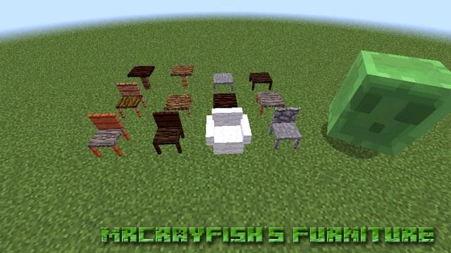 Мод MrCrayfish's Furniture на мебель для Майнкрафт 1.12.2