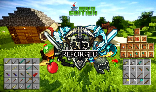 Мод на оружие Reforged для Майнкрафт 1.12.2