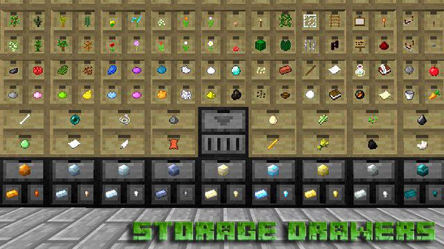Скачать мод Storage Drawers для Minecraft 1.12.2 | Бесплатно