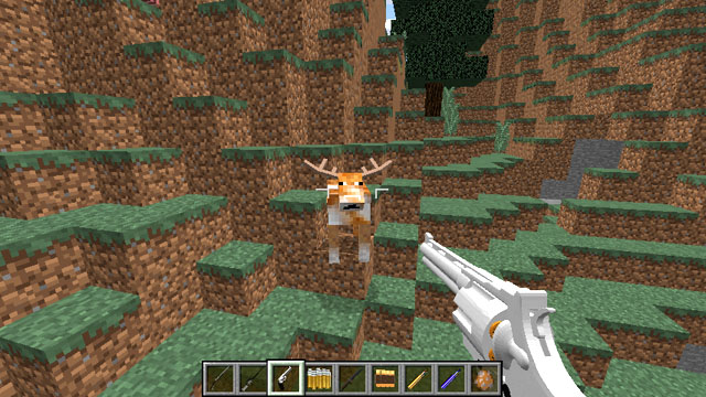 Мод на охоту с оружием для Майнкрафт 1.12.2