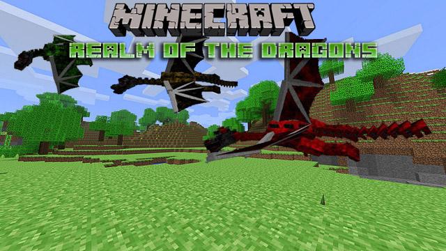 Скачать мод Realm of the dragons для Minecraft 1.12.2/1.11.2