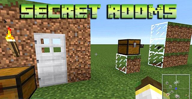 Мод на секретные двери, сундуки для Майнкрафт 1.14.4