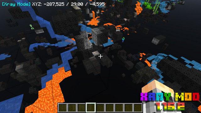 Чит XRay для Minecraft 1.15.2