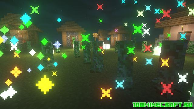 Мод Creeper Confetti для Майнкрафт 1.16.5, 1.15.2