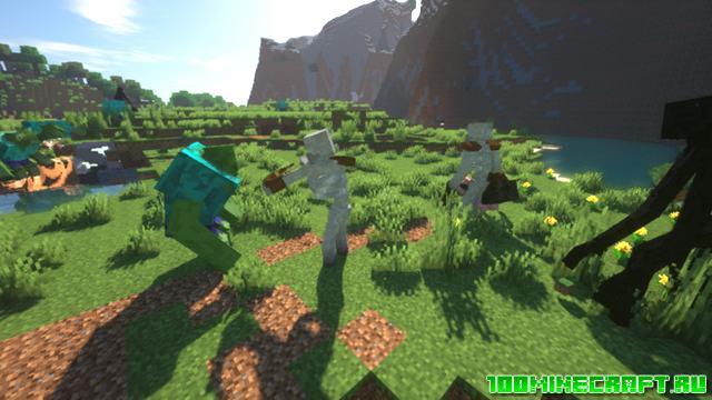 Мод Зомби мутанты для Майнкрафт 1.16.5, 1.15.2