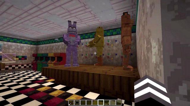 Мод Пять ночей с Фредди (Five Nights Freddy's) на Майнкрафт 1.7.10