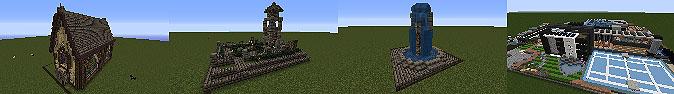 Мод для Майнкрафт 1.7.10/1.7.2 - Готовые дома для игры