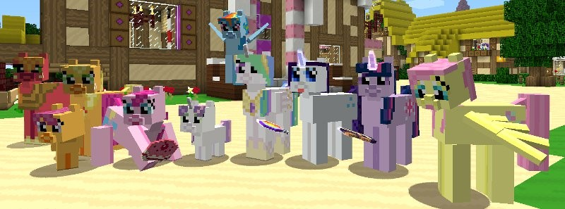 Mine Little Pony мод для Minecraft 1.7.10