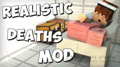 Мод для Майнкрафт 1.7.2 - Realistic Deaths / Скачать бесплатно