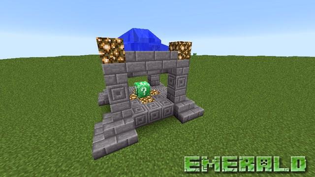 Мод изумрудный лаки блок на Майнкрафт 1.8.9