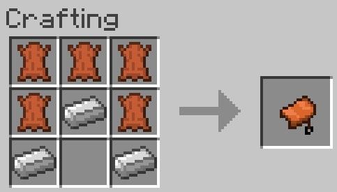 Рецепт крафта седла для лошадей / Скачать мод для Майнкрафт 1.5.2 Mo Creatures
