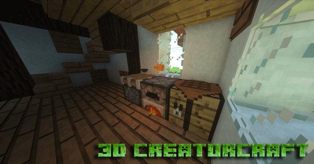Скачать текстуры 3D CreatorCraft (NEW Update!) для Minecraft 1.12.2