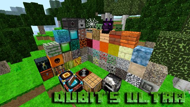 Текстуры Qubit's Ultra 64х на Майнкрафт 1.12.2