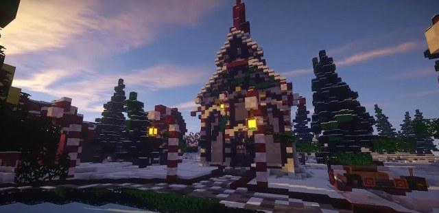Рождественские текстуры для Майнкрафт 1.12.2