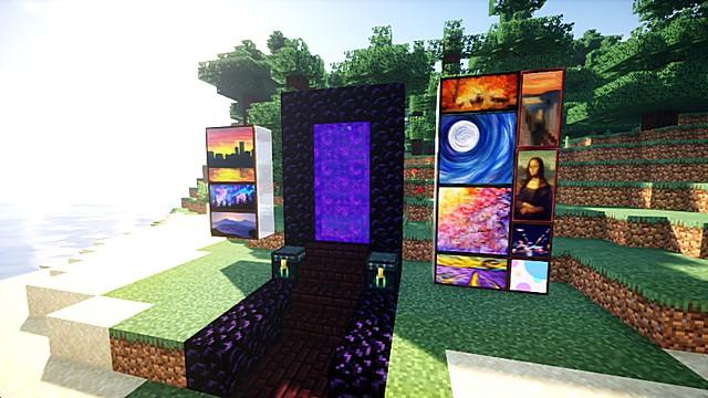 Текстур пак на картины для Minecraft 1.16 1.15