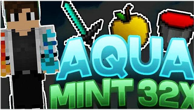 Текстуры Aqua Mint PvP для Майнкрафт 1.8.9