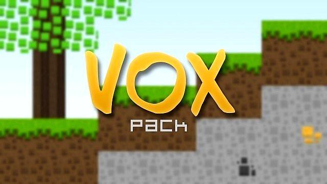 Скачать текстуры Vox Pack для Майнкрафт 1.8