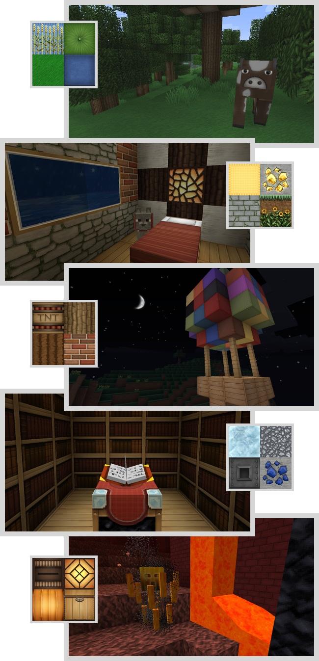 Скачать текстуры для Minecraft бесплатно / Для Майнкрафт 1.5.2/1.5.1/1.4.7 - 64x